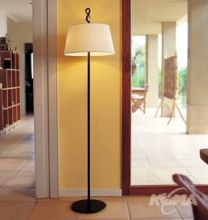 Ferrara pie lampa podlogowa 2x60W E27 czarny/bawelna