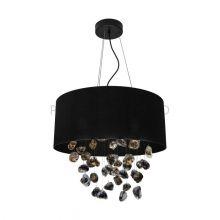 Escuela lampa wisząca czarna tkanina 3x16W E27