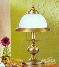 Marble lampa stolowa 1x28W E14 antyczny mosiądz mat/klosz mat
