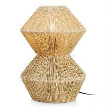 Straw lampa stołowa rattanowa 1x60W E27