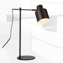 Black lampa stołowa 1x60W E27 230V czarna