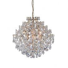 Rosendal lampa wisząca złota/transparentna 2x40W E14