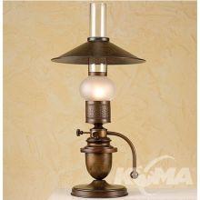 Velha lampa stołowa 1x42W E14 ziemisty brąz/klosz matowy