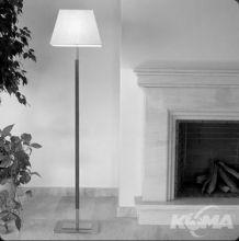 Tau pie lampa podlogowa 1x60W E27 nikiel/skora cuir/len
