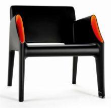 Magic hole fotel 68x63x73cm czarny/pomaranczowy