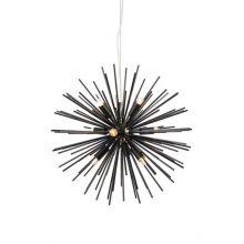 Soleil lampa wisząca czarna 9x20W E14
