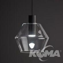 Diament lampa wisząca czarna 1x12W GU10 230V