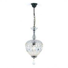 Arila lampa wisząca 1x60W E27 230V antyczny złoty / transparentny