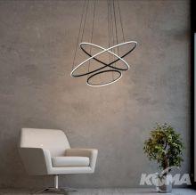 Ring lampa wisząca czarna led 163W 6520 lm