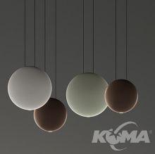 Cosmos lampa wisząca 4x4.5w led 2700k czarna czekolada/szarość/mięta