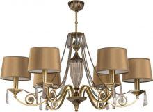 Monza lampa wisząca w patynie  6 x 40W E27 kryształ asfour