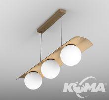 Modern_Ball_WP lampa wisząca 33W LED 3000K  złoty struktura