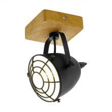 Gatebeck reflektor 1x40W E14 230V brąz/czarny