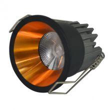 Kika lampa wpuszczana 3W LED 3000K 230V czarna