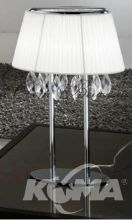 ---^organza stolowa lampka 3x40W E14 chrom/white