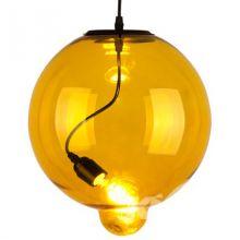 Lampa-szklana-modern-glass-bubble-żółta