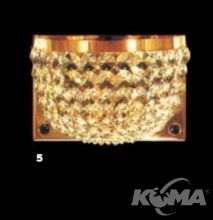 ---^kristall kinkiet 2pl. 40W/E14 gold