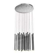 Organic lampa wisząca 33x1W + 4x3W LED 3000K 230V chrom