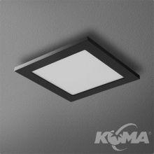 Pure oprawa wpuszczana 2.5W OLED 230V czarna (mat)