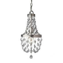 Malia żyrandol lampa wisząca 1x60W E27 230V chrom/transparentna