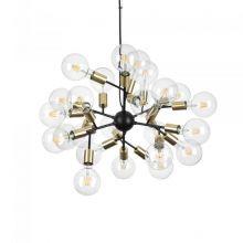 Spark lampa wisząca czarna 24x60W E27