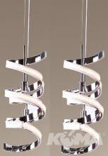 Pirlo lampa wisząca LED 2x10W 230V chrom