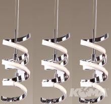 Pirlo lampa wisząca LED 3x10W 230V chrom