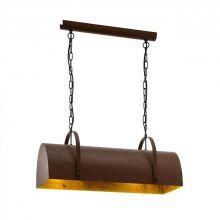 Deerhurst lampa wisząca 2x60W E27 230V brązowa