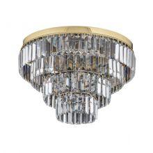 Ellini plafon złoty sufitowy kryształowy ⌀ 45cm spectra swarovski 6x40W E14