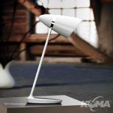 Elmo lampa stołowa biała 1x40W E27 230V