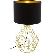 Pedregal lampa stołowa 1x60W E27 230V czarno-złota