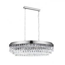 Valparaiso 1 lampa wisząca chromowa/transparentna 10x40W E14