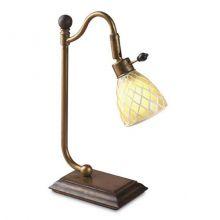 Martina lampa stołowa 1x40W G9 230V brązowa/złota