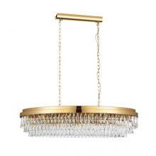 Valparaiso lampa wisząca złota/transparentna 13x40W E14