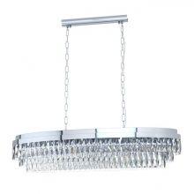 Valparaiso lampa wisząca chromowa/transparentna 13x40W E14
