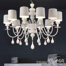 Eva lampa wisząca żyrandol 10x40W E14 230V biały