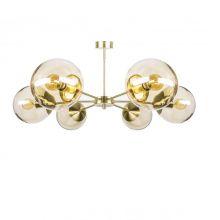 Muna_ceiling m19 lampa wisząca 6x40W E27 patyna szkło dmuchane