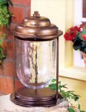 Crackle lampa stojąca zewnętrzna IP44 1x28W E27 ziemisty brąz/szkło z efektem popękania