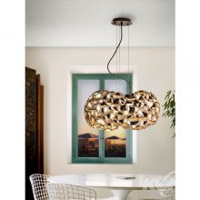 Narisa lampa wisząca 5x10W G9 230V pozłacana, brązowy lakier