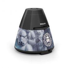 Star Wars lampka nocna 1x0.1W + 3x0.3W LED 4.5V czarna