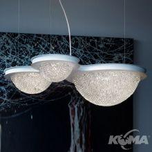 Bool S3 G lampa wisząca 18,4W + 71,7W LED 3000K 230V biały mat