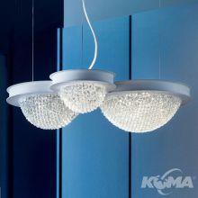 Bool S3 P lampa wisząca 10W + 34,1W LED 3000K 230V biały mat