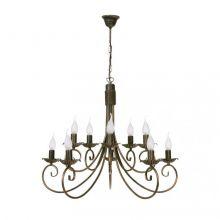 Płomyk X lampa wisząca - żyrandol 10x60W E14 230V
