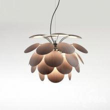 Discoco lampa wisząca drewno dębowe śr. 68 cm 3x14W