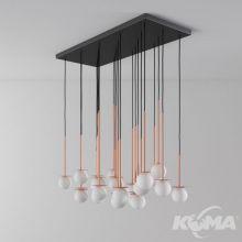 Cotton_250 panel lampa wisząca klosz φ 10cm 23x1.9w G9 230V miedź mat / przewód czarny