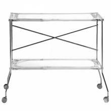 Flip stolik 80x42x72cm krysztalowy