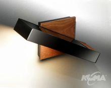 Timea a kinkiet 1x150W R7s 118mm drewno czarny chrom