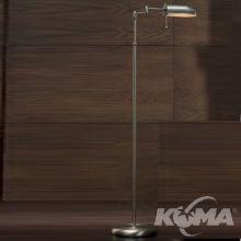 Office lampa podłogowa 1x42W E27 nikiel szczotkowany
