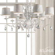 Acantia lampa wisząca żyrandol 8x40W E14 230V biały