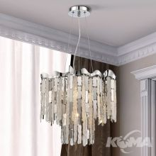 Chantal lampa wisząca 4x42W G9 230V transparentna/chrom